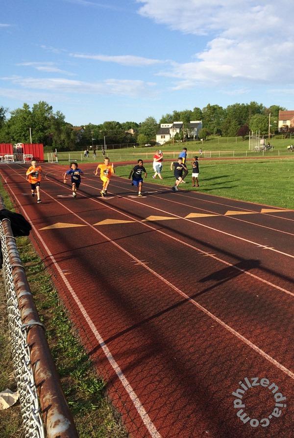 Z.E.N. running at a track meet.