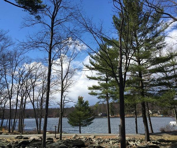 The lake at Woodloch Pines Resort