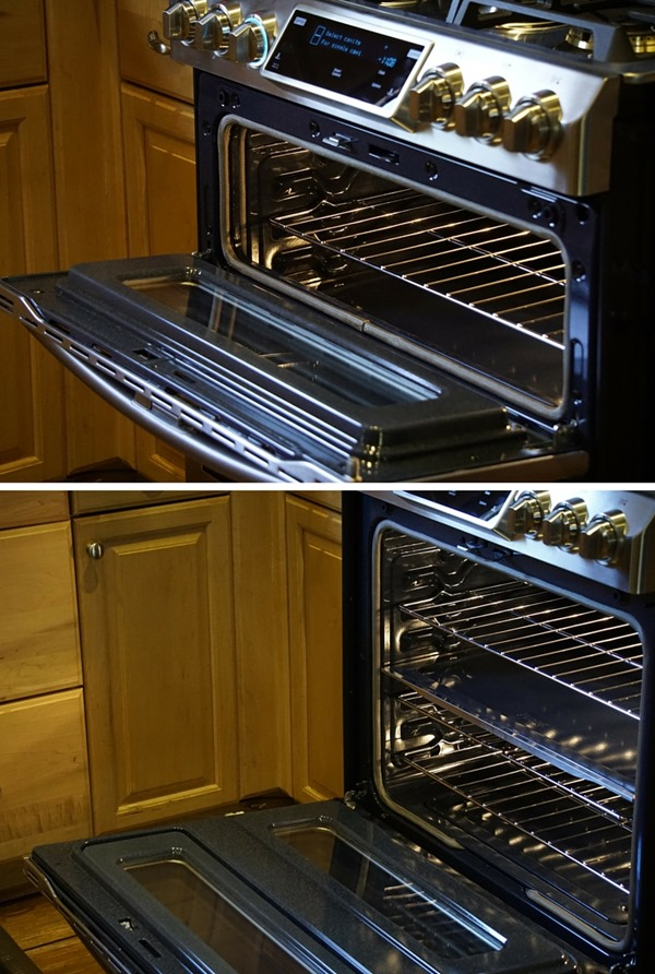 Samsung flex dual oven door design