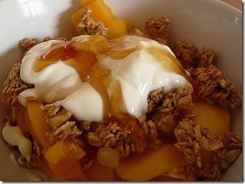 greek yogurt with fruit and granola