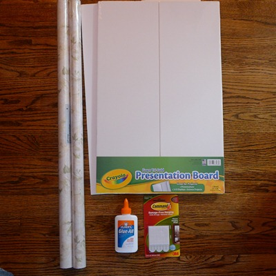 These are the supplies purchased at Duane Reade for the Faux headboard art project