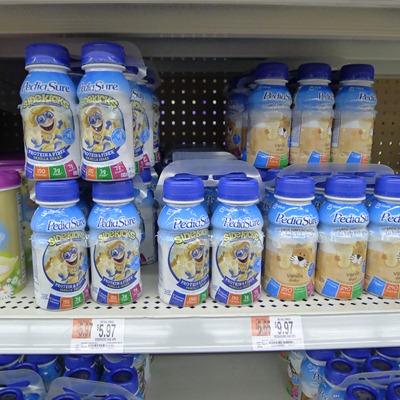 Pediasure selectin at Walmart