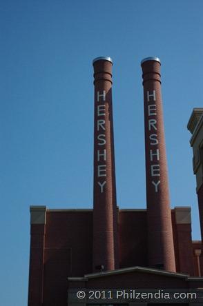 Smokestacks at Hershey's Chocolate World