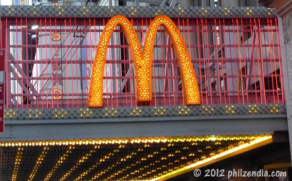 Marquee at the McDonald's Times Square NYC location