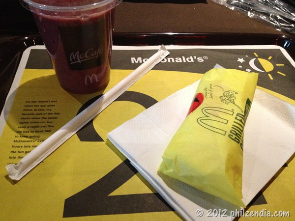 McDonald's healthy snack options