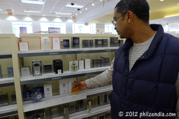 Philip browsing the colognes at Ulta