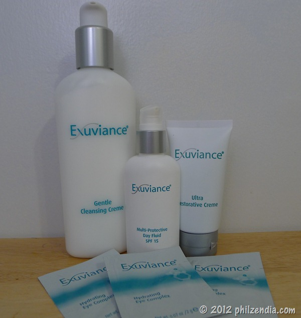 These are the products that are included in the Exuviance skin care kit