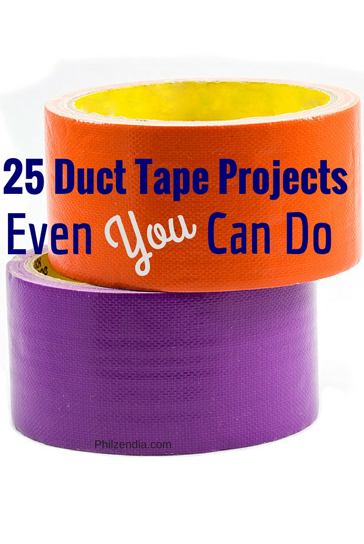 Looking for a fun activity to do? I've compiled a list of 25 great duct tape crafts and projects that just about everyone can do.  Check them out and have fun doing them!