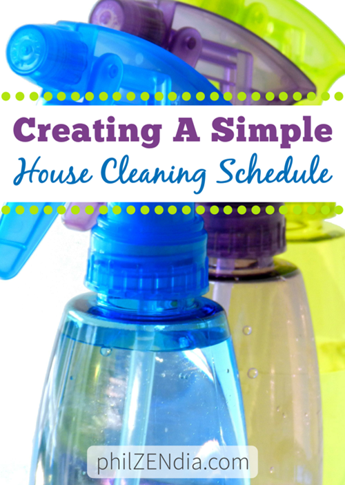 Creating A Simple House Cleaning Schedule
