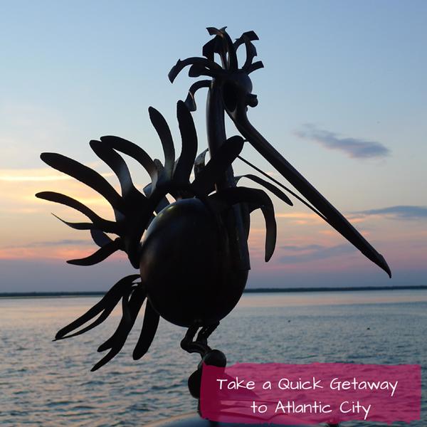 'Pelican,' sculpture by Sandra Webberking on the AC Waterfront Sculpture Walk at Harrah's Atlantic City. #DOAC ©Philzendia.com