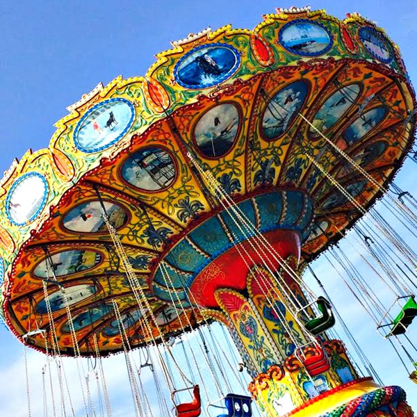 Swings Ride at Steel Pier Amusement Part in Atlantic City #DOAC ©Philzendia.com
