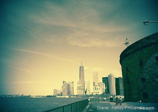 Manhattan skyline from Governors Island