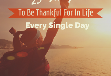 23 things to be grateful for in life every single day