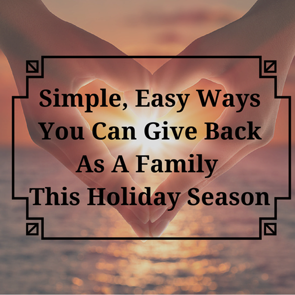 Simple, Easy Ways You Can Give Back As A
