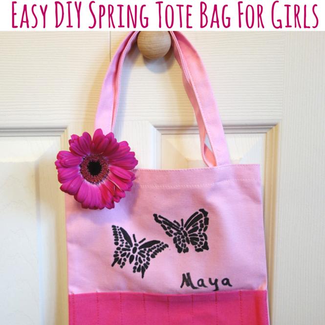Easy DIY Spring Tote Bag For Girls
