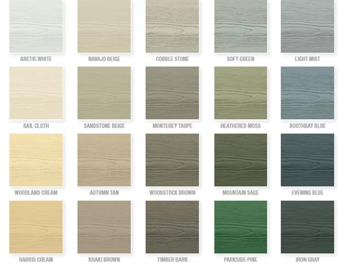 siding color options