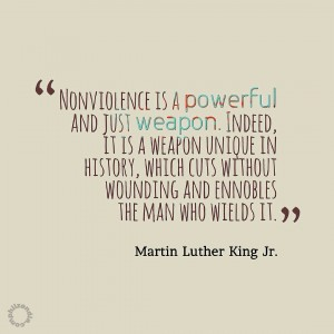 MLK jr quote - Nonviolence is a powerful and just weapon. Indeed, it is a weapon unique in history, which cuts without wounding and ennobles the man who wields it.