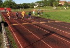 young athletes running track