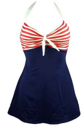 red white blue swimdress