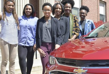 Discover the Unexpected journalism fellows (Left to right): Brelaun Douglas, Briahnna Brown, Victoria Jones, Tatyana Hopkins, Sidnee King and McKenzie Marshall. (Freddie Allen/AMG/NNPA)
