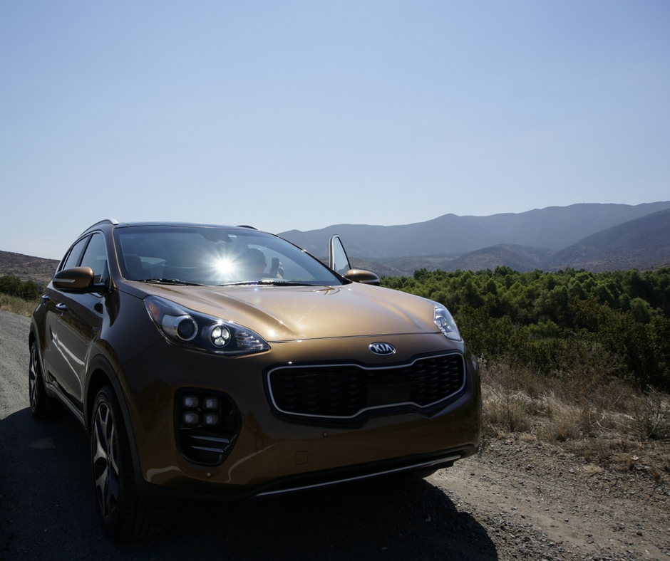 We drove through the deserts of San Diego in this Kia Sportage