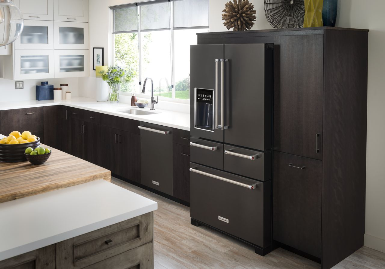 Kitchen Design Ideas With Black Stainless Applainces ~ The open kitchen concept can improve look of your home