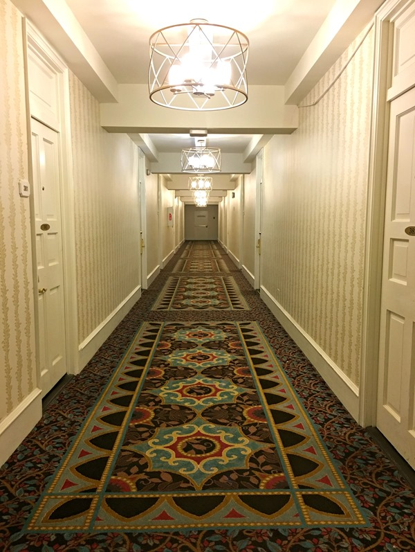 Long Hallway at Pocono Manor Inn