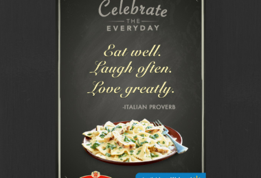 celebrate everyday life with bertolli