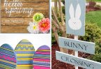 diy easter and spring wood signs