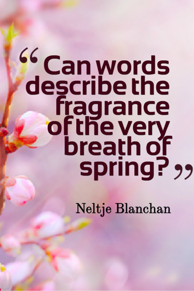 Can words describe the fragrance of the very breath of spring picture quote