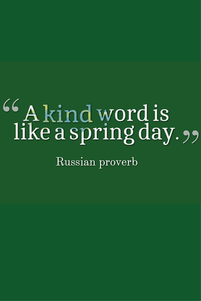 a kind word is like a spring day picture quote