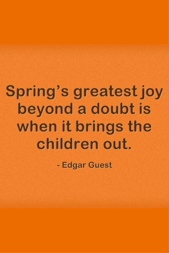 springs greatest joy picture quote
