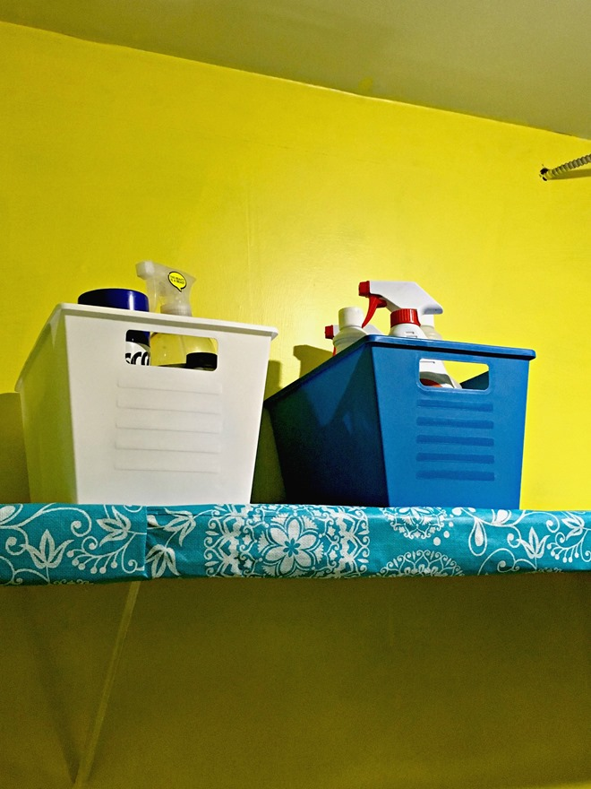 storage bins for your laundry room