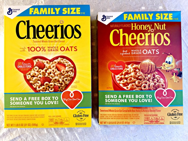 Cheerios Buy One Give One Boxes