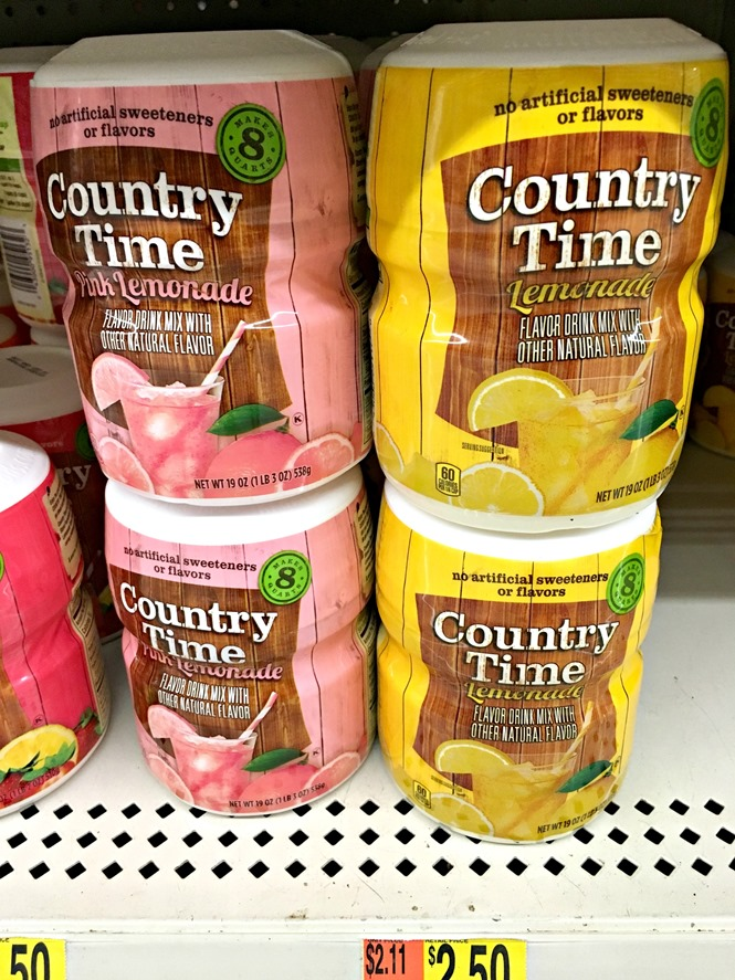 Country Time Lemonade at Walmart