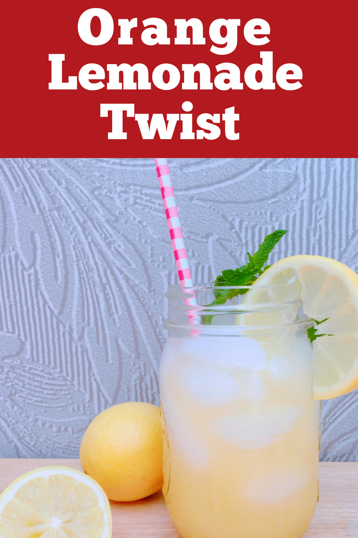 If your kids love lemonade as much as mine does, you have to try this orange lemonade twist recipe. It's a great sparkling twist on traditional lemonade.