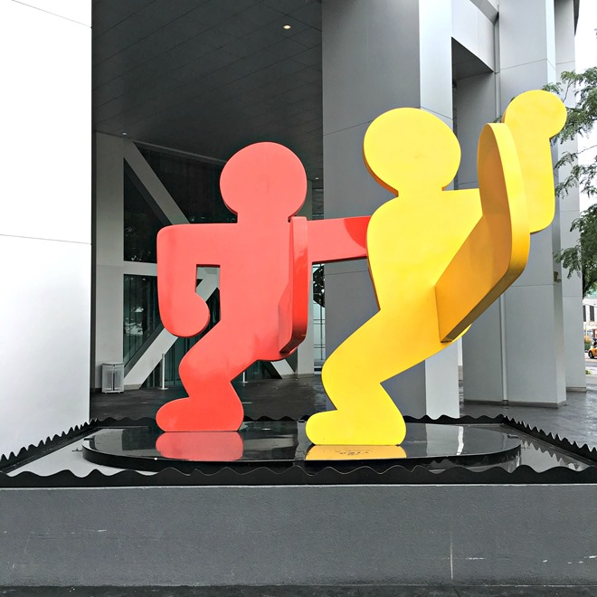 Two Dancing Figures Sculpture by Keith Haring