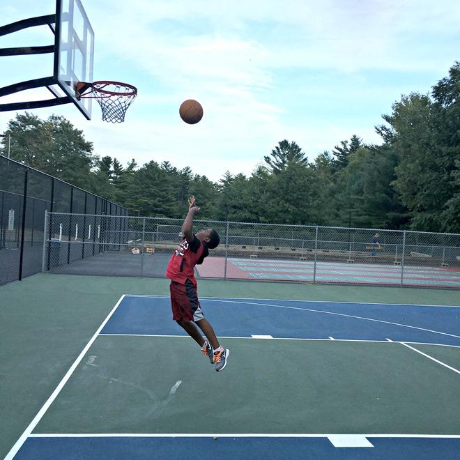 Z.E.N. practicing basketball