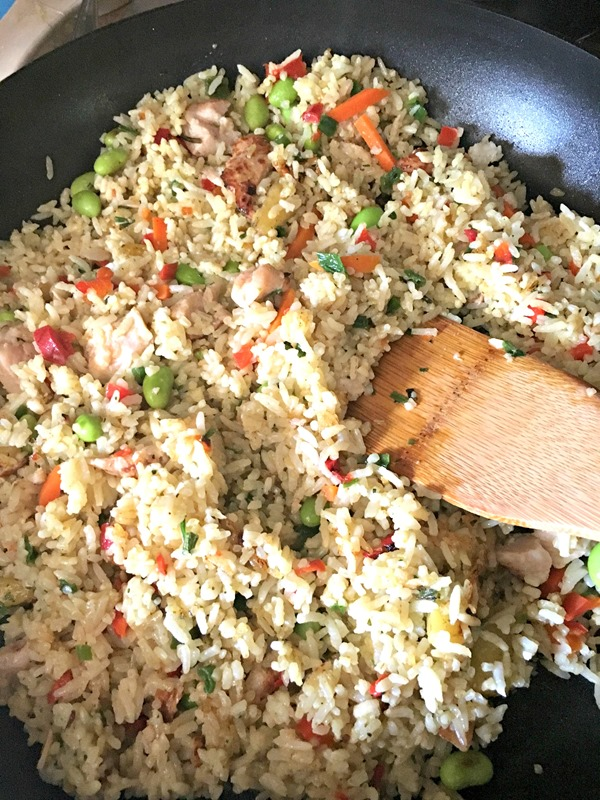 Cooking Ling Ling Thai Chicken Fried Rice