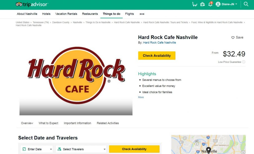 Book HardRock Cafe Nashville on Tripadvisor