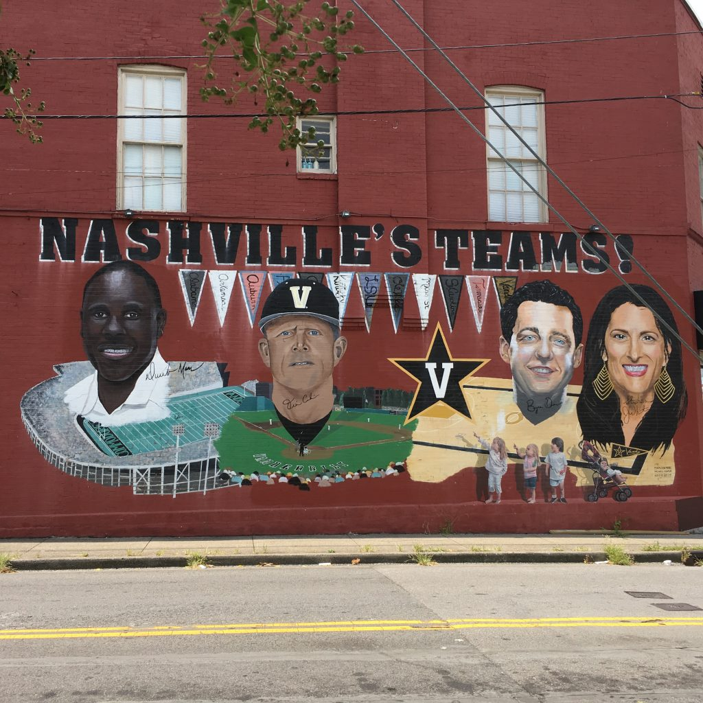 Mural of Nashville's Teams