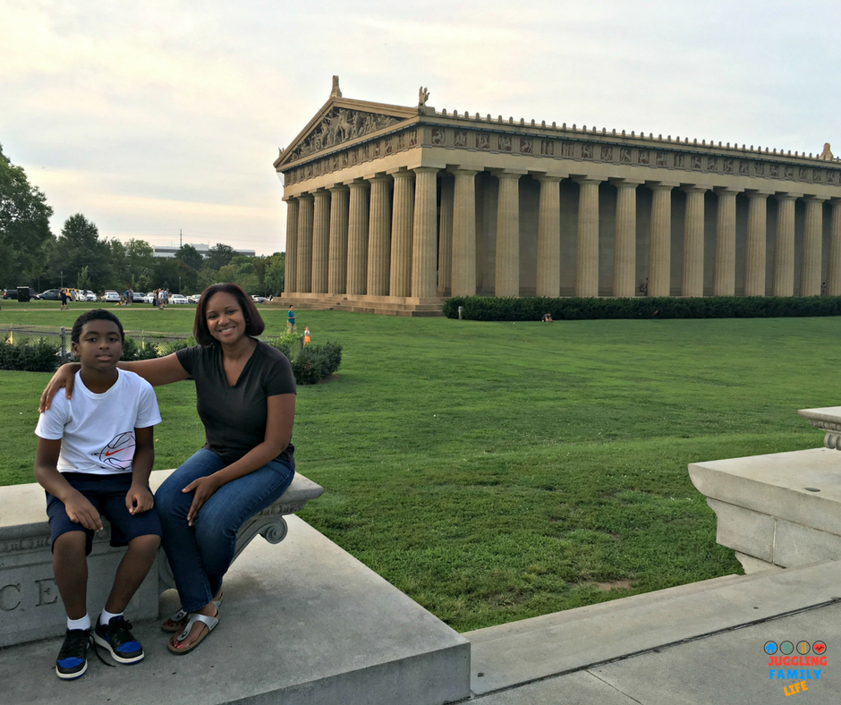 Me and Z.E.N at the Nashville Parthenon