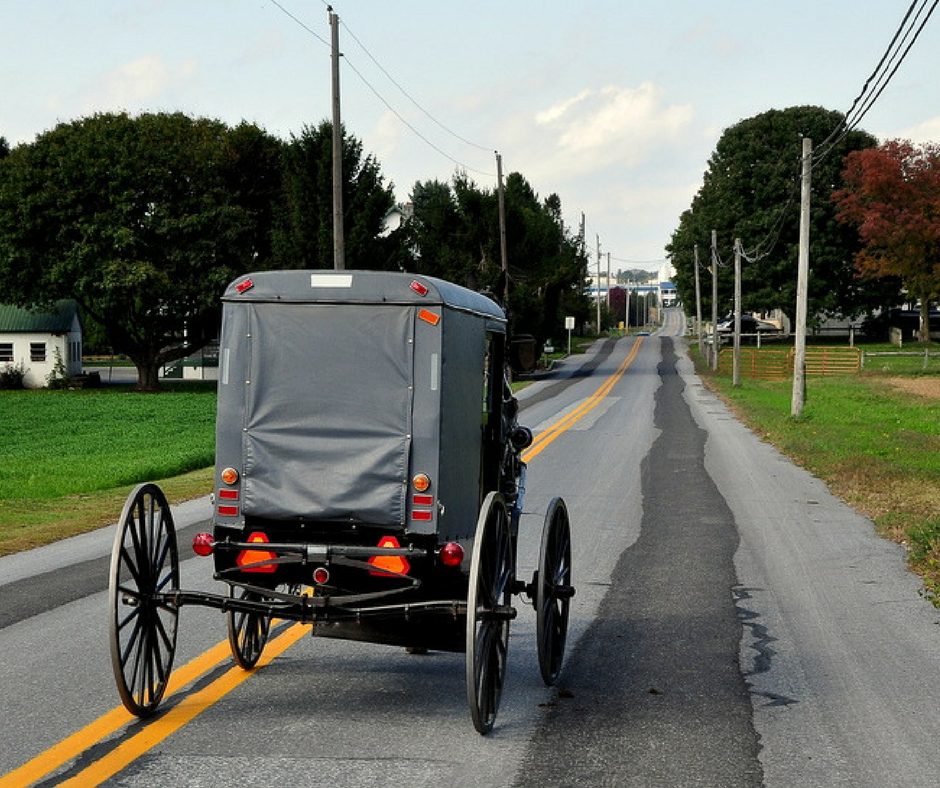 Horse drawn buggy in Lancaster Pennsylvania