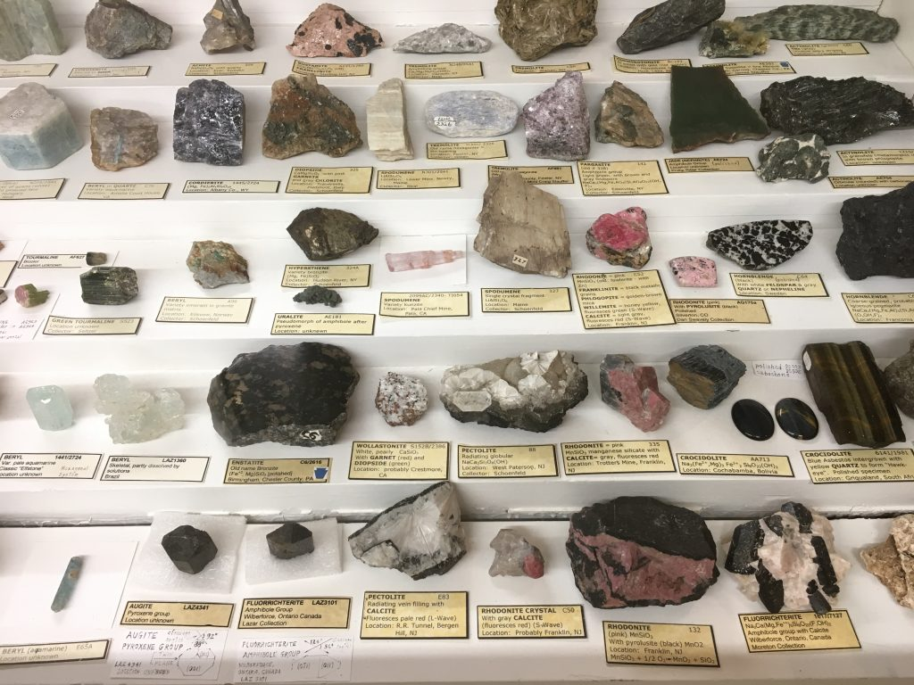 minerals at the North Museum of Nature and Science