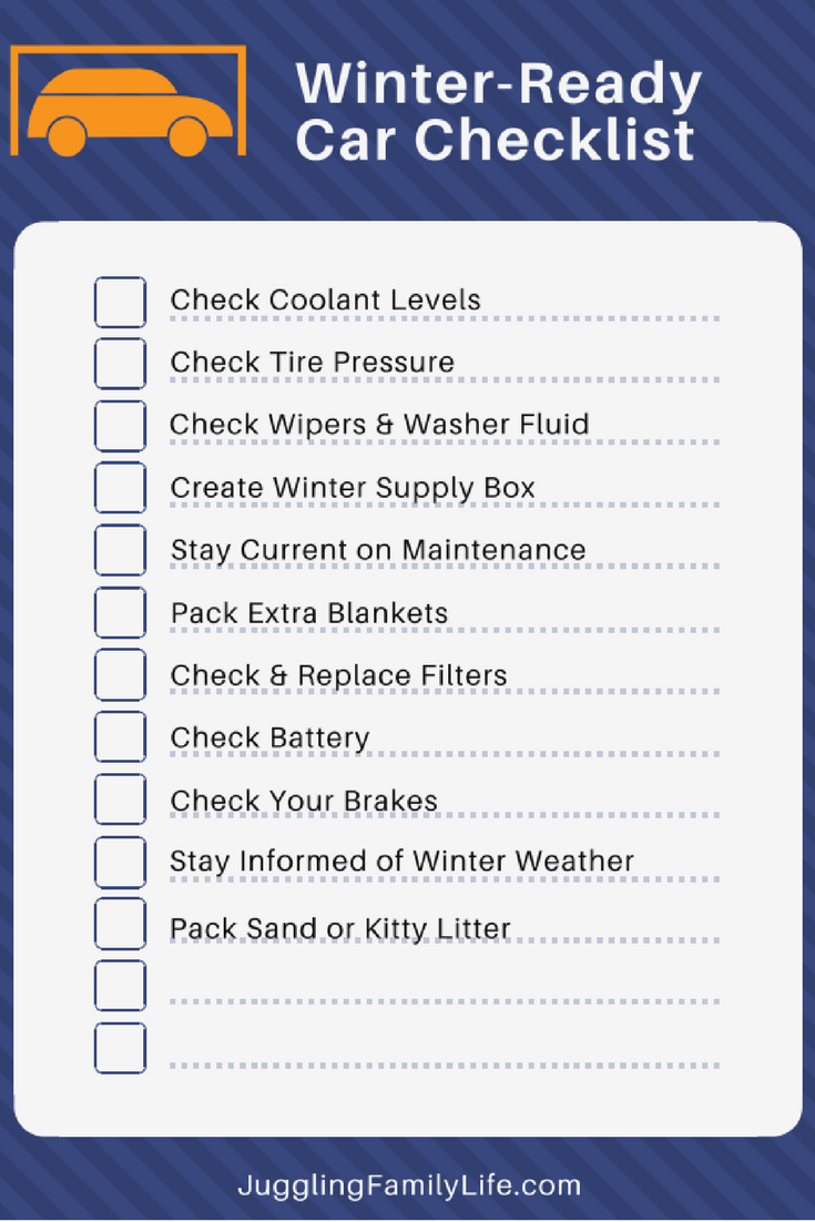 winter ready car printable checklist