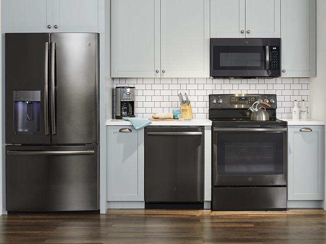 GE Black Stainless appliances