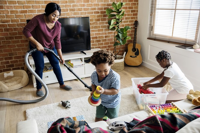 Spring cleaning should be a family affair