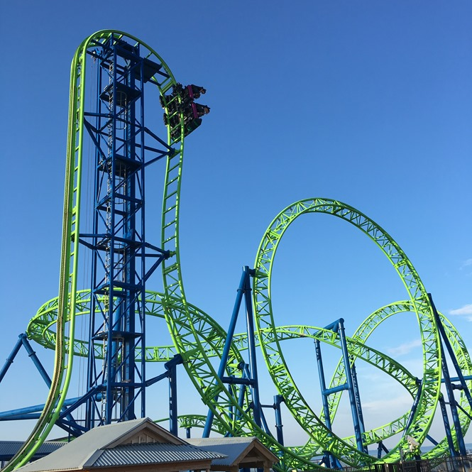 The Hydrus Roller Coaster at Casino Pier at the Jersey Shore