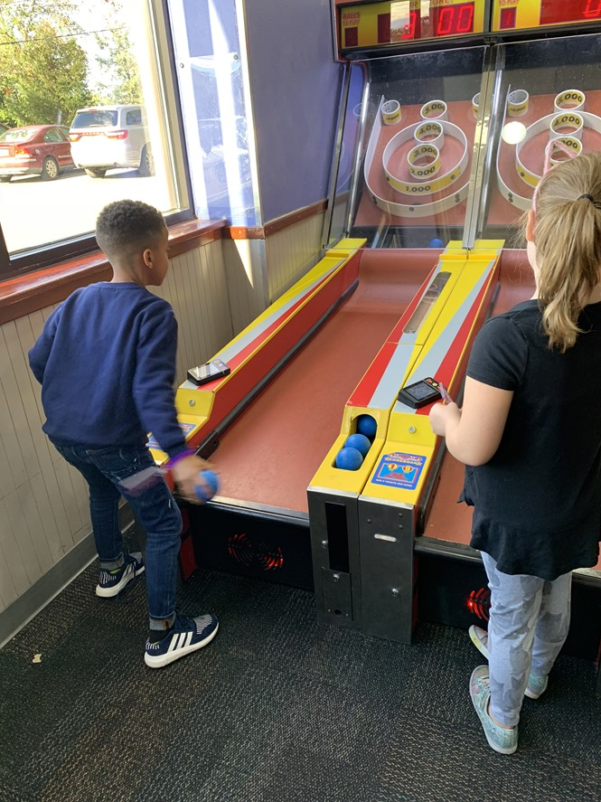 Skee ball was one of my favorite games at Chuck E. Cheese's