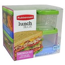 Brand new rubbermaid lunch blox sandwch kit